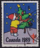 Christmas Tree - 1989 CANADA Tuberculosis Charity Stamp / Label / Cinderella - Weihnachten