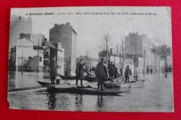 Boulogne Inondé - Janvier 1910 - Rond-Point (Grande-Rue, Rue De Paris, Avenue De La Reine ) Animée - Crèmerie - 13 - - Boulogne Billancourt