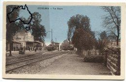 -  GUELMA - La Gare - les quais, train, non �crite, splendide, clich� peu courant, TBE, scans.