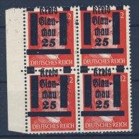 Lokalausgaben Glauchau Michel No. 7 ** postfrisch Viererblock Aufdruck verschoben