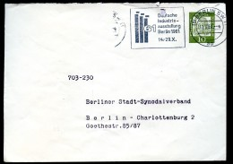 BERLIN PU25 B2/001a Privat-Umschlag WASSERWERKE Gebraucht 1961  NGK 25,00 - [5] Berlin