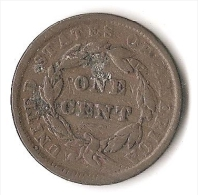 USA 1 CENT  1839 - 1816-1839: Coronet Head (Testa Coronata