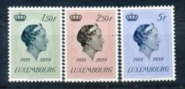 LUXEMBURG Mi. Nr. 601-603 40. Jahrestag Der Thronbesteigung Von Großherzogin Charlotte- MNH - Ungebraucht