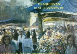 VAR 83 DRAGUIGNAN  ANNÉE 1986  ILLUSTRATEUR FRIZAT LE MARCHÉ - Bourses & Salons De Collections