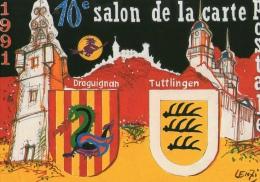 VAR 83 DRAGUIGNAN   ILLUSTRATEUR M LENZI 1991 - Collector Fairs & Bourses