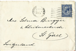 Great Britain Cover Finsbury Park 31-1-1929 Sent To Switzerland Single Stamped - 1902-1951 (Koningen)