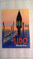 Grand Hotel Lido - Lido Di Venezia - Italia - Italy-Italie - Etiquettes D'hotels