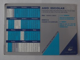 1 CALENDAR CALENDARIO CALENDRIER SMALL - PORTUGAL - Calendriers