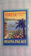 Regina Palace Stresa Lago Maggiore- Italia - Italy-Italie - Etiquettes D'hotels