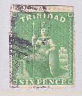 Trinidad   24  Pin Perf 14  4 Margin Perfs RARE (o)    1859  ISSUE - Trinidad & Tobago (...-1961)