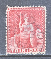 Trinidad 27a  LAKE   Perf.  14  To 15 1/2   Fault   (o)   1860  ISSUE - Trinidad & Tobago (...-1961)