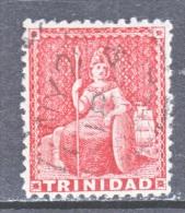 Trinidad  43   Perf  12 1/2   (o)  4  MARGIN   1863  ISSUE  No  Wmk. - Trinidad & Tobago (...-1961)