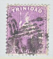 Trinidad  47   Perf  13 X 12 1/2   (o)     1863  ISSUE  No  Wmk. - Trinidad & Tobago (...-1961)