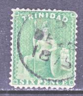 Trinida   53   Perf.  12 1/2 (o)   No Wmk  BUT HAS  DOUBLE  LINE  LETTER  WMK. - Trinidad & Tobago (...-1961)