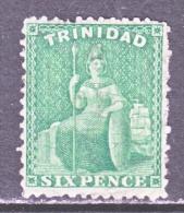 Trinida   53 A  Deep  Green    (o)   Wmk.  CC - Trinidad & Tobago (...-1961)