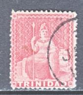 Trinidad   58   Perf.  14   (o)  Wmk CC With Wmk Line  1876 Issue - Trinidad & Tobago (...-1961)