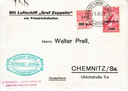 BRAZIL  ZEPPELIN -  CONDOR  COVER  To  GERMANY - Airmail