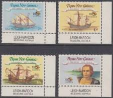 PAPUA NEW GUINEA 1992 COLUMBUS SET OF 4, SG 662/665, MNH, ** - Papua New Guinea