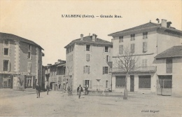 L'Albenc (Isère) - Grande Rue - Grand Café Et Fontaine - Cliché Seigner - Carte Non Circulée - L'Albenc