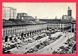 [DC5484] CARTOLINA - TORINO - PIAZZA SAN CARLO - AUTO - ANIMATA - Non Viaggiata - Old Postcard - Non Classificati