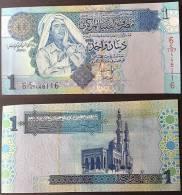 Libya P 68 - 1 Dinar 2006 - UNC - Libia