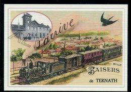 TERNATH  .....train ... Souvenir  Creation Moderne Série Limitée Et Numerotée 1 à 10 ... N°2/10 - Ternat
