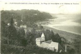 Plestin-les-Greves. La Plage De Saint Efflam Et Le Chateau De Toulinet . - Plestin-les-Greves