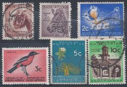 Afrique Du Sud N° 235-236-266-268-269-271 Obl. - South Africa (...-1961)