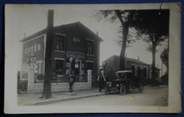 Photo Carte.Année 1924.(Rare).EPICERIE.( Pierrot Cottage.)    Distributeur  D'essence. Voiture.  ( 2 Scanners.) - Royan