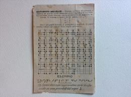 Alfabeto Braille Unione Italiana Dei Ciechi Non Viaggiata F.p - Scuole