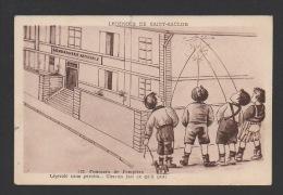 DF / HUMOUR / SERIE LEGENDES DE SAINT-SAULGE / CONCOURS DE POMPIERS / MOMES QUI PISSENT CONTRE LE MUR DE LA GENDARMERIE - Humor