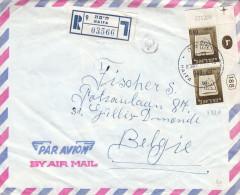 Israël - Lettre Recommandée De 1967 ° - Oblitération Haifa - Paire Avec Numéro - Israel