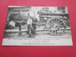 Carte Postale Reproduction Marseille Le Personnel De La Benne Le Charretier Vigui Vous Souhaite Une Bonne Heureuse Année - Artigianato