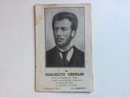 Guglielmo Oberdan Cartolina Che Si Apre Non Viaggiata Ottimo Stato F.p. - Personaggi Storici