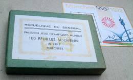 Senegal BL 010** -  ORIGINAL ! Jeux Olympiques De Munich X 100 -MNH-  Cote Y&T2008= 525 Euro ! - Sénégal (1960-...)