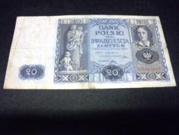 POLOGNE 20 Zlotych 11/11/1936, Pick N° 77 , POLSKA, POLAND - Polen