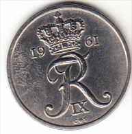 DINAMARCA 1961.FREDERIC IX . 25 ORE.NUEVA SIN CIRCULAR  VER FOTO   CN4286 - Dinamarca