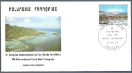 POLYNESIE FRANCAISE FDC Du 236 YT EPJ Récifs Coraliens 1985 - FDC