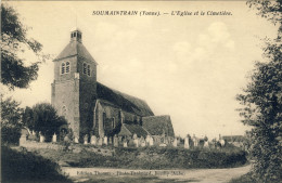 SOUMAINTRAIN (Yonne) -- L'EGLISE  ET  LE  CIMETIERE - France