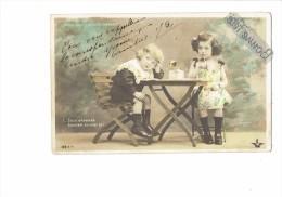 Cpa Fantaisie - Fillette Garçon ENCRIER PLUME - Première Correspondance - NITRAM 122 RIP - 1904 - Scènes & Paysages