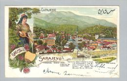 AK Bosnien Sarajevo 1901-06-08 Litho Moschee - Bosnie-Herzegovine