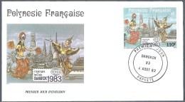 "POLYNESIE FRANCAISE FDC Du PA 177 YT EPJ ""Bangkok 1983"" 1983 - FDC"