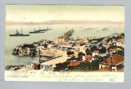 AK Gibraltar 1907-07-27 Farbfoto Rosia Bay - Gibraltar