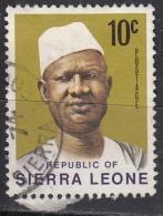 Sierra Leone, 1972 - 10c Pres. Siaka Stevens - Nr.427 Usato° - Sierra Leone (1961-...)