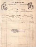 """CREUSE - AUBUSSON - """" LE REGUM """" - PNEUS - VULCANISATION - REGOMMAGES - DEPÔT GOOD YEAR - 1930 - Cars"""