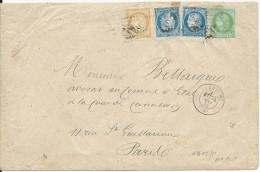 1873 -  BEL AFFRANCHISSEMENT CERES Sur ENVELOPPE De LA CRECHE Pour PARIS - Postmark Collection (Covers)