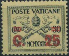 1929 Vaticano, Giallino, Serie Completa Nuova Linguellata (*) - Vaticano