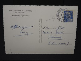 FRANCE- CACHET CONGRES ESPENTO A PARIS  DU 8/8/1950 SUR CP    A VOIR  LOT P3532 - Marcophilie (Lettres)