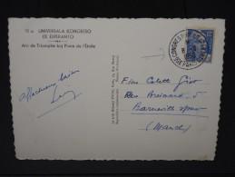 FRANCE- CACHET CONGRES ESPENTO A PARIS  DU 8/8/1950 SUR CP    A VOIR  LOT P3533 - Esperanto