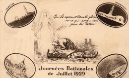 Cpa 1929, JOURNEES NATIONALES De JUILLET 1929, Souvenir, Lorette, Douaumont, Dormans, Vieil Armand  (45.32) - Vari